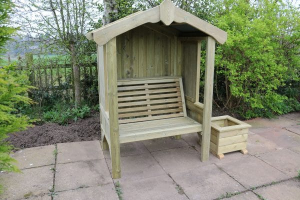 Cottage 2-seater panelled arbour 1