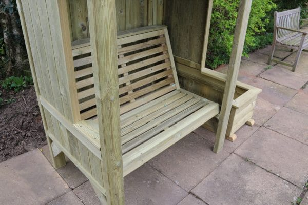 Cottage 2-seater panelled arbour 3