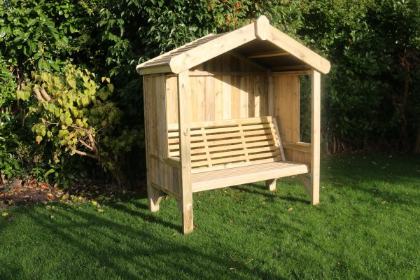 Cottage 3-seater panelled arbour 1