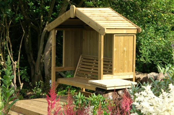 Cottage 3-seater panelled arbour 2