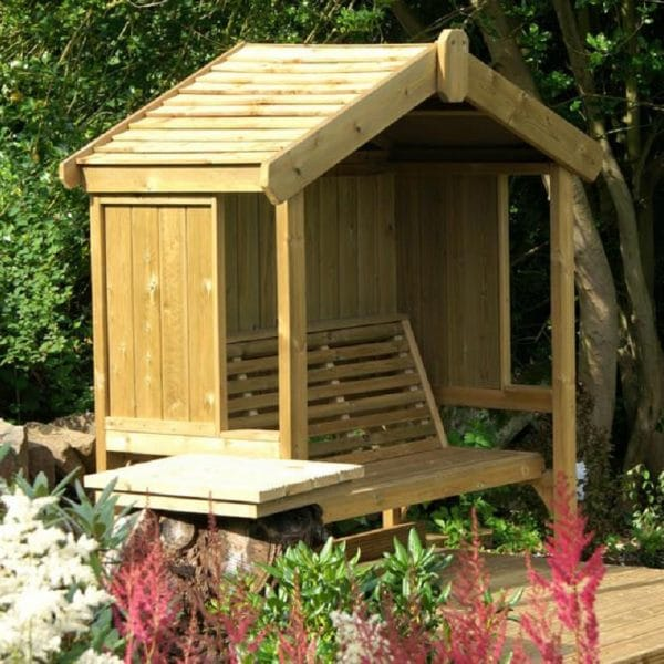 Cottage 3-seater panelled arbour 3